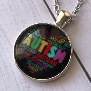 Jewelry - Autism Awareness Cabochon Necklace